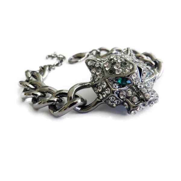 Crystal Pave Jaguar Statement Bracelet